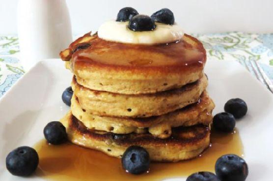 Healthy Blueberry Lemon Pancakes