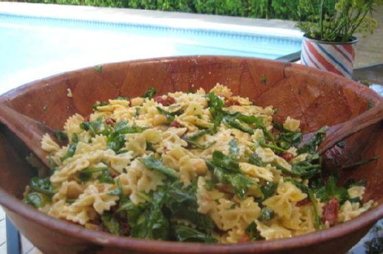 Italian Pasta Salad with organic Arugula