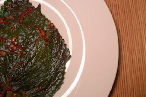 Kkaetnip Jangajji (Korean Pickled Perilla Leaves)