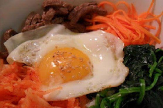 Korean Bibimbab (Rice w Vegetables & Beef)