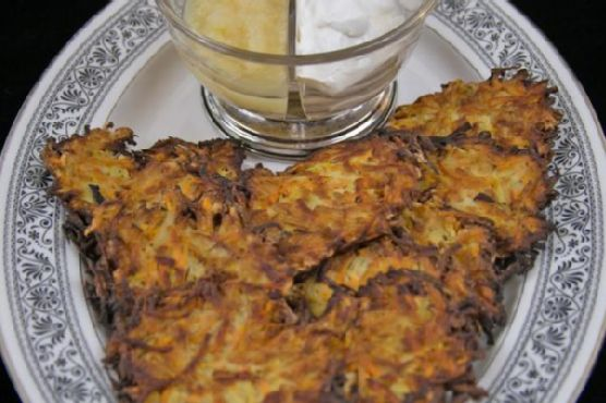 Latkes; Fried Vegetable Pancakes from Europe and the Middle East