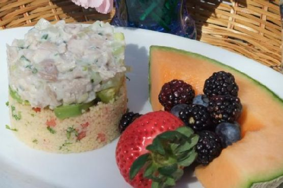 Layered Chicken Salad With Couscous