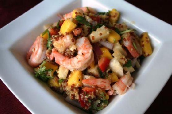 Mango Quinoa Salad With Shrimp
