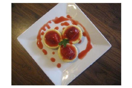 Mini-Strawberry Cheesecakes