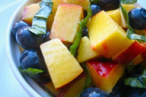 Nectarine Blueberry Basil Fruit Salad