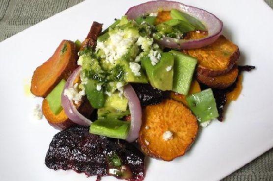 Nopales and Cotija Salad With Spicy Cilantro Vinaigrette
