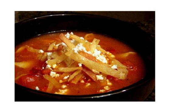 Oven-Roasted Tomato and Garlic Soup
