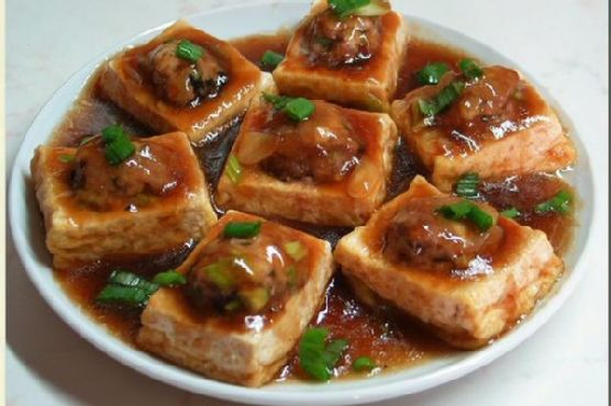 Pan-Fried Stuffed Tofu With Oyster Sauce