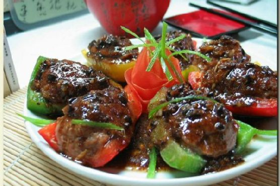 Pan-Fried Stuffed Bell Peppers