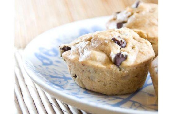 Pb, Banana, Chocolate Chip Muffins