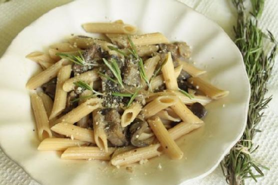 Penne Con Funghi E Melanzane (Penne With Mushrooms and Eggplant)