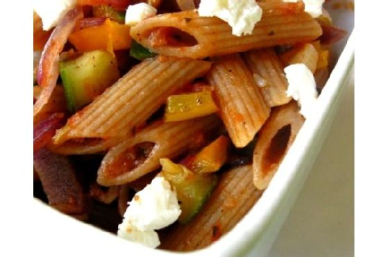 Penne With Goat Cheese and Zucchini