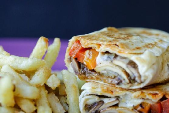 Philly Cheesesteak Grilled Wraps