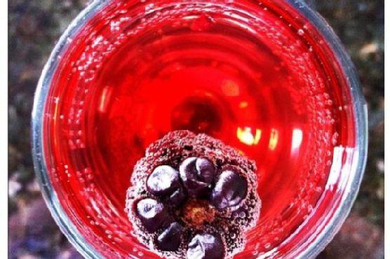 Pomegranate Champagne Fizz