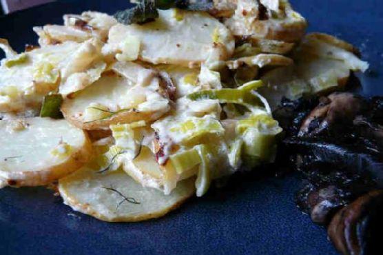 Potato and Leek Gratin