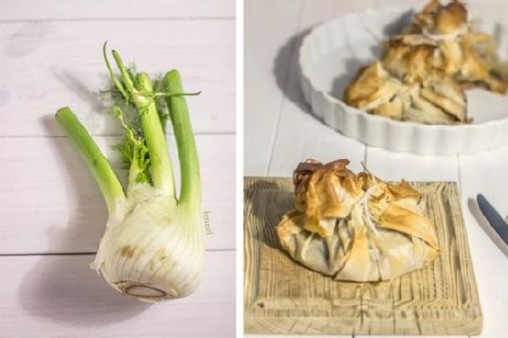Prawn and Fennel Filo Pastry
