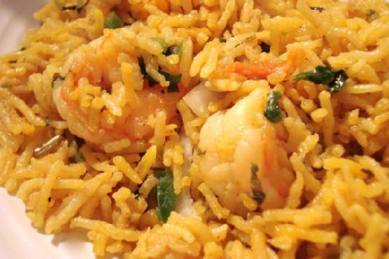 Prawn Biryani( Shrimps In Aromatic and Flavored Indian Rice)