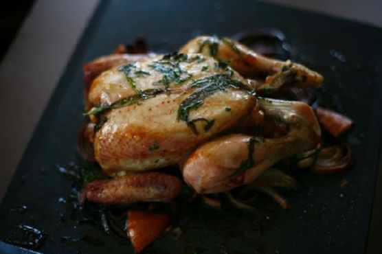 Roast Chicken With Red Wine