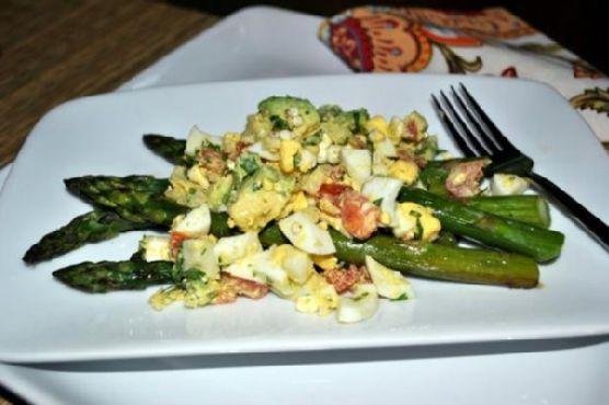 Roasted Asparagus with Egg Salad