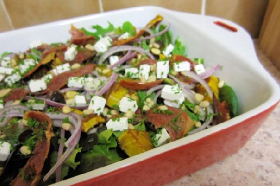 Roasted Squash, Prosciutto and Goat's Cheese Salad