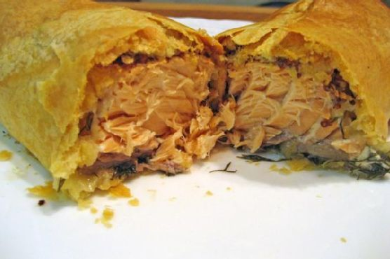 Salmon En Croute With Tarragon Cream Sauce