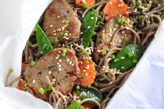 Soba Noodle & Five-Spice Pork Salad