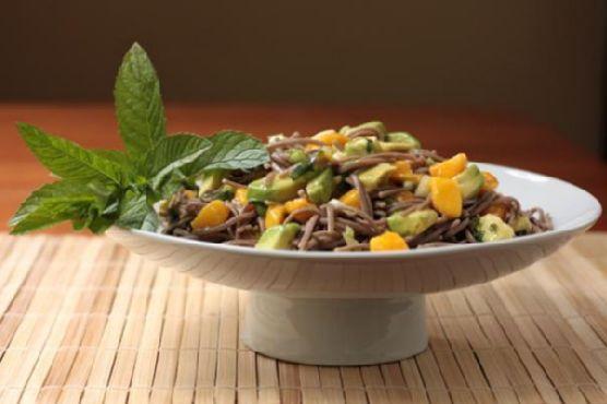 Soba Noodle Salad with Avocado and Mango