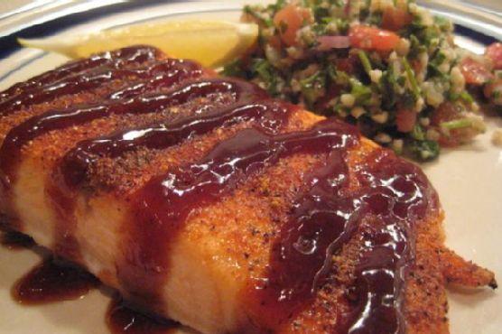 Spice-Rubbed Lemon Barbecue Salmon