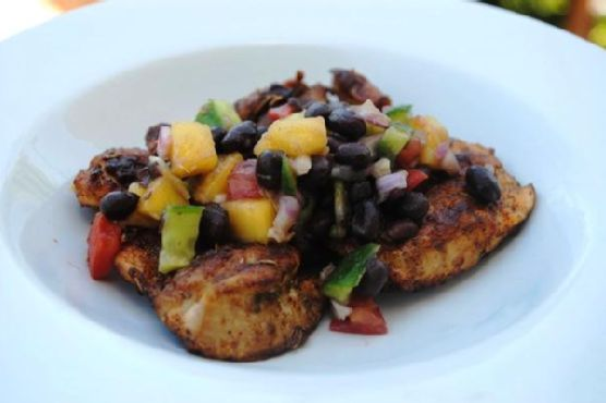 Spiced Chicken With Black Bean and Mango Salsa
