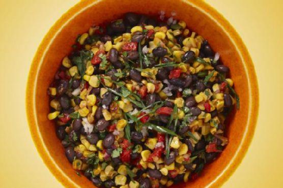 Spicy Roasted Corn & Black Bean Salad