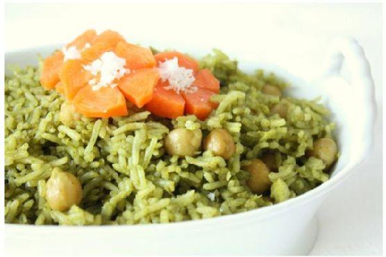 Spinach Chickpea - Palak Chana Rice