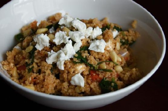 Spinach, Tomato & Onion Couscous