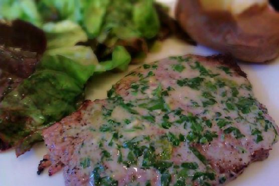 Steak With Blue Cheese Sherry Sauce