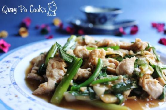Stir Fry Sliced Pork With Young Ginger and Spring Onion - Featured In Group
