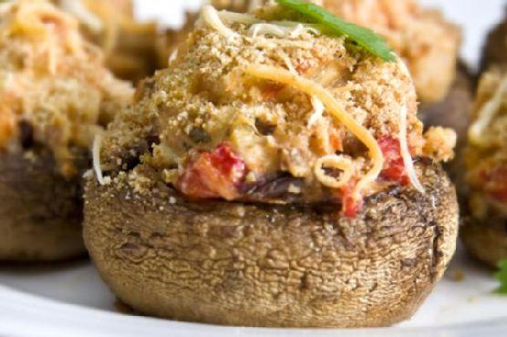 Sun Dried Tomato Stuffed Mushrooms