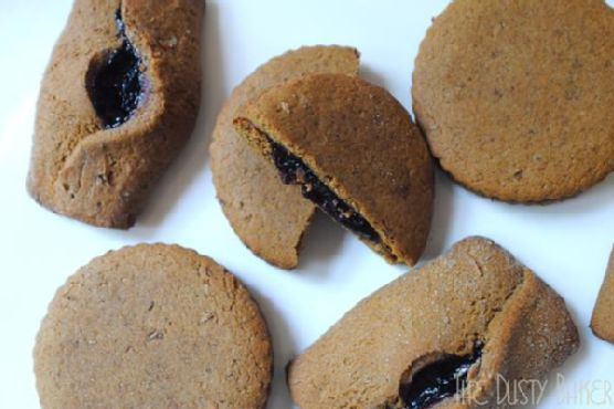 Sweet and Spicy Blueberry Molasses Jam Cookies (Gluten Free Too!)