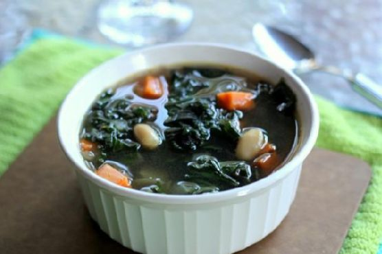 Sweet Potato, Kale & White Bean Soup