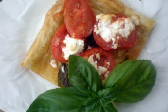 Tomato, Basil and Goat Cheese Tart