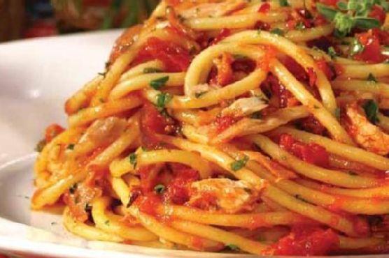 Tuna and Spaghetti - Italian Style