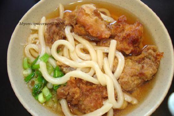 Udon Noodles Chicken Tempura