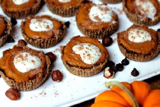 Vegan Mini Chocolate Pumpkin Pie