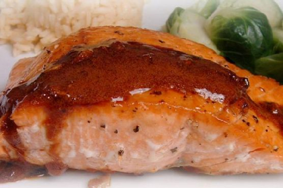 Wasabi & Honey Glazed-Salmon
