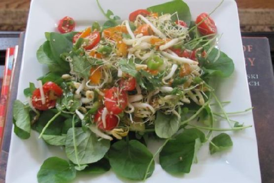 Watercress Salad With Miso-Lime Dressing