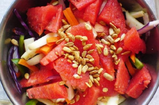 Watermelon, Zucchini, Carrot Salad
