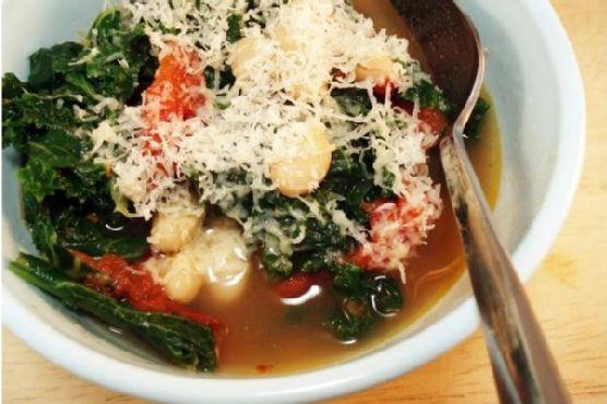 White Bean, Kale, and Tomato Stew