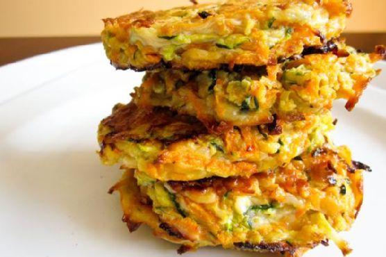 Zucchini and Yam Fritters