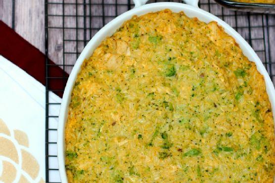 Cheesy Chicken Broccoli Rice Casserole & Holiday Acorn Box
