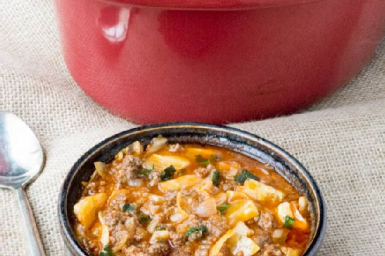 Crock Pot Low Carb Un-Stuffed Cabbage Roll Soup