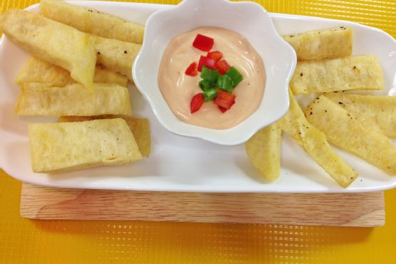 Fried Yam and Spicy Mayo