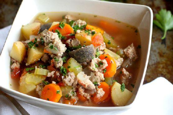 Slow Cooker Turkey & Potato Soup